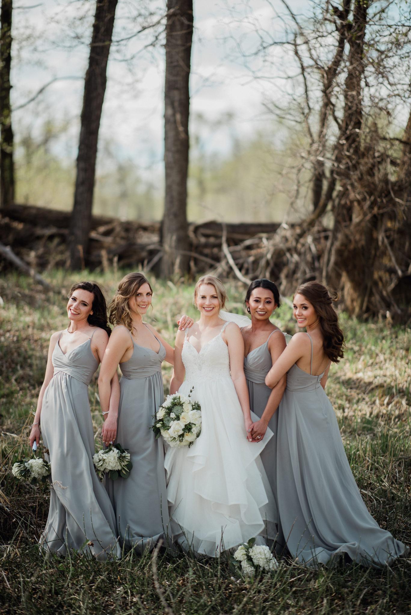 beautiful group of bridesmaids